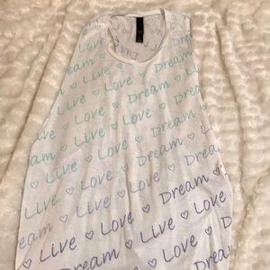 Live Love Dream tank